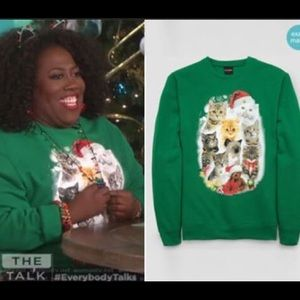 Fifth Sun Cat Christmas Sweater
